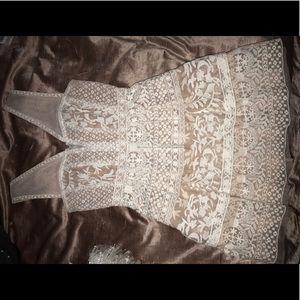 White lace BCBG Maxazria dress